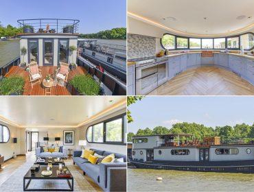 Que tal morar num barco no endereço mais elegante de Londres? E por uma pechincha…