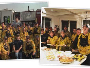 Rob Lowe faz jantar especial para bombeiros que tentam conter incêndio gigante na Califórnia
