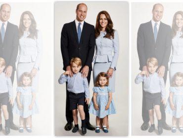 Palácio de Kensington divulga cartão de Natal de William, Kate Middleton e família