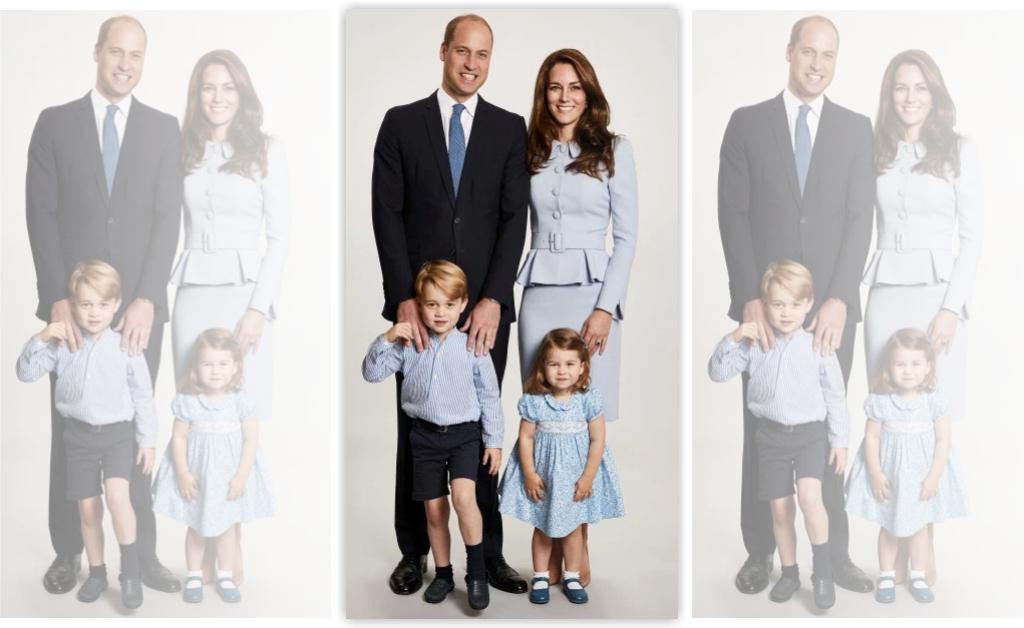 Com George e Charlotte, Família real divulga cartão de natal