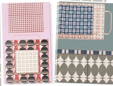 Lá em Casa: função + design com irreverência nas bandejas de Flavia Del Pra