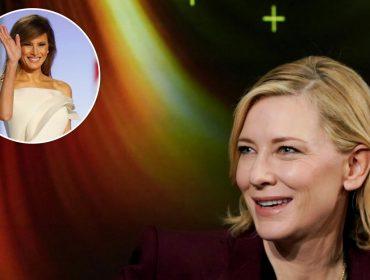 """Cate Blanchett, sobre a possibilidade de interpretar Melania Trump: """"Não a mostraria como vítima"""""""