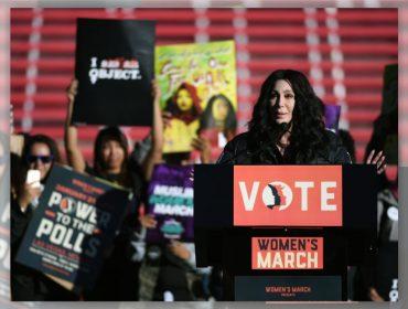 """Cher na Marcha das Mulheres: """"Se quiser um serviço bem feito, chame uma mulher!"""""""
