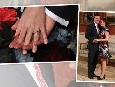 Bafo! O anel de noivado da princesa Eugenie é maior (e bem mais caro) que o de Meghan Markle