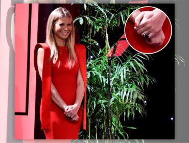 Gwyneth Paltrow aproveitou os SAG Awards para exibir seu anel de noivado milionário