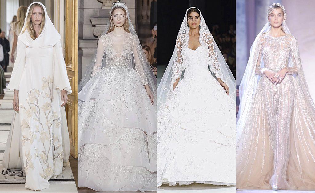 16f585609 Vestidos de noiva desfilados na semana de moda de alta-costura em Paris
