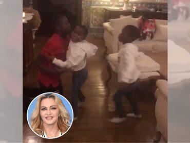 """Filhos de Madonna reproduzem coreografia de """"O Rei do Show""""… Tudo registrado pela mãe coruja"""