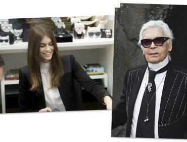 Filha de Cindy Crawford, Kaia Gerber vai lançar coleção em parceria com Karl Lagerfeld