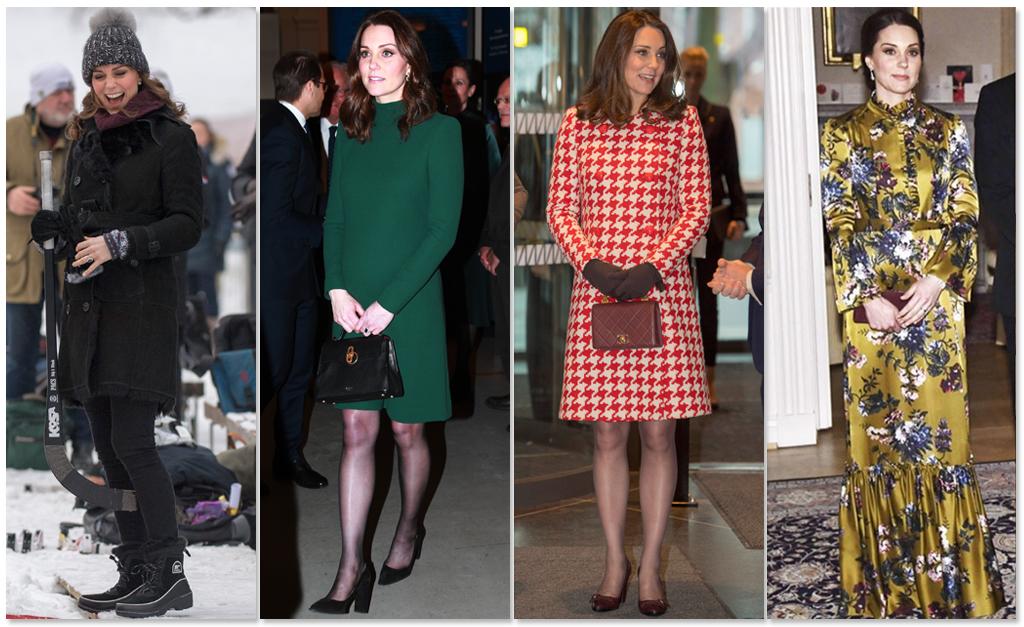 cf999a583 Looks usados por Kate Middleton em viagem oficial a Estocolmo, Suécia ||  Créditos: Getty Images/Reprodução Instagram