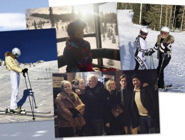 Fugindo do calor, Glamurettes invadem estações de esqui mundo afora. Ah, a neve…