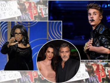 Clooney, Oprah, Bieber: celebs aderem em massa à luta contra as armas nos Estados Unidos