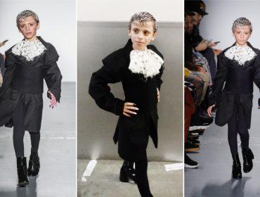 Modelo e drag queen mirim de 10 anos rouba a cena na Semana de Moda de NY
