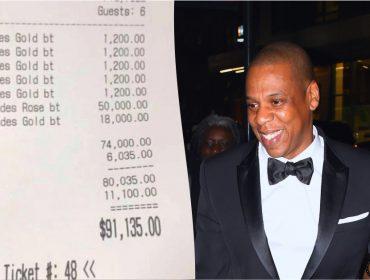 Jay-Z gastou mais de R$ 350 mil em noitada para festejar aniversário de amigo