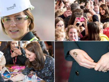 O dia a dia agitado de Kate Middleton: construção de ponte, sorrisos e tattoo de hena