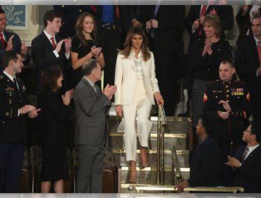 Look de Melania no encontro de Trump com o Congresso pode ter sido uma ode às feministas