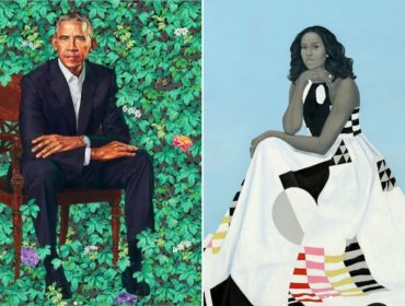"""Retratos oficiais e """"diferentões"""" do casal Obama são incluídos na coleção do Smithsonian"""