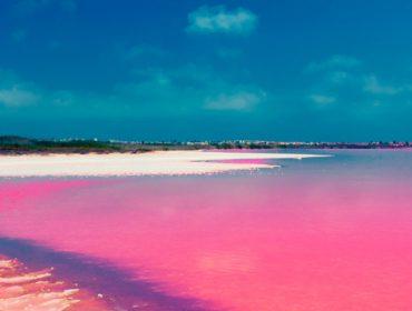 Sete impressionantes lagos cor-de-rosa que parecem coisa de outro planeta