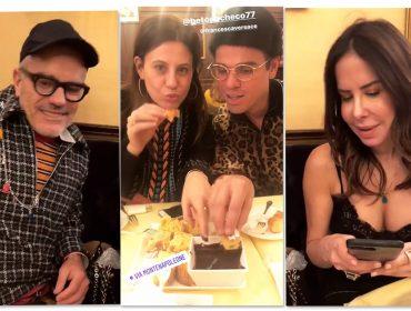 Francesca Versace celebra aniversário na companhia de brasileiros em Milão
