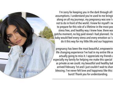 Depois de muito mistério, Kylie Jenner revela nascimento da filha pelo Instagram
