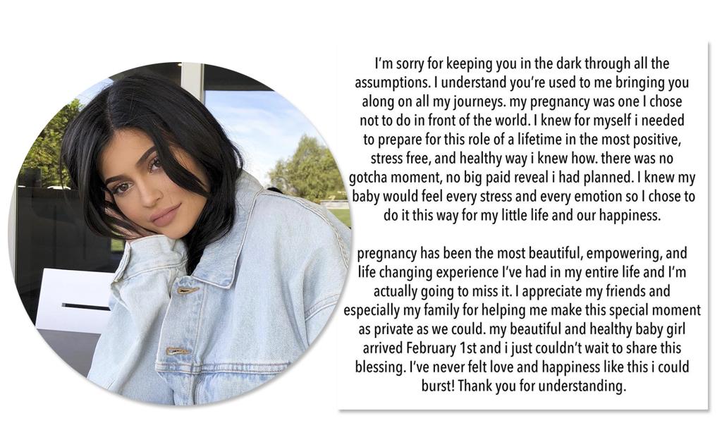 Kylie Jenner é mãe!