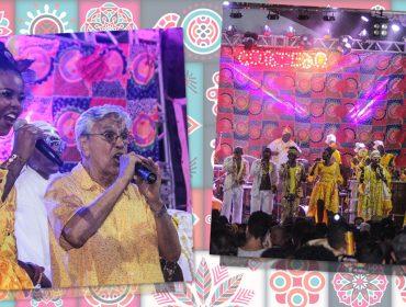 Caetano Veloso faz apresentação surpresa em último ensaio do Cortejo Afro, em Salvador