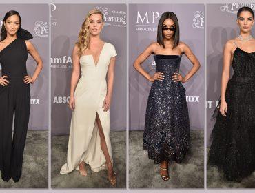 Alfaiataria refinada e brilho total são escolhas de bem vestidas do amfAR em NY