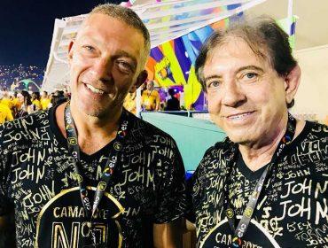 João de Deus vira atração especial em camarote lotado de famosos no Rio