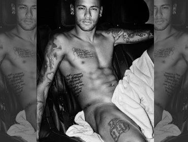 Quase nu! Neymar é clicado só de toalha para famosa série de Mario Testino