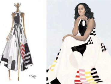 Vestido que Michelle Obama usou para ser retratada em quadro oficial é retirado de linha