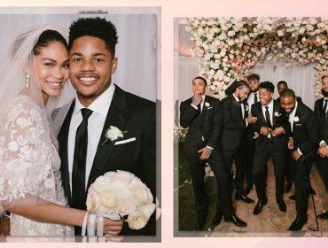 A top americana Chanel Iman se casou nesse final de semana com jogador de futebol americano