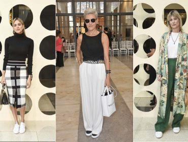 Sneakers combinados com looks sofisticados dominam escolhas das bem vestidas da semana