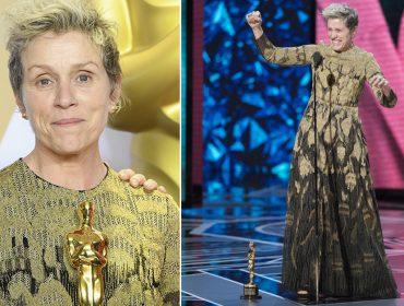 Roubo de estatueta de Melhor Atriz de Frances McDormand movimenta festa pós-Oscar