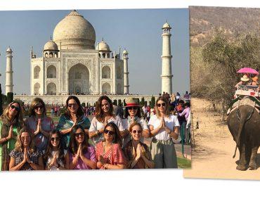 De férias na Índia, turma de glamurettes desembarcou no Taj Mahal. Aos detalhes!