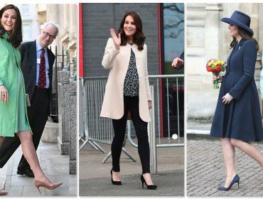 No oitavo mês de gestação Kate Middleton sai de cena, mas sem largar o salto alto. Entenda!
