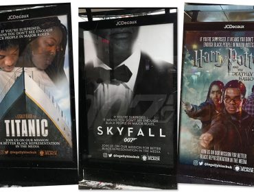 Artistas londrinos trocam protagonistas brancos por negros em cartazes como forma de protesto. Entenda!