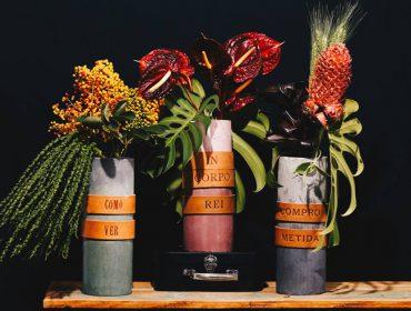 Vasos de concreto da collab DuoSolo X Flats Exclusivas dão toque poético ao décor
