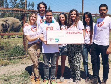 Giovanna Ewbank viaja para o Chile para fazer um alerta em defesa dos elefantes