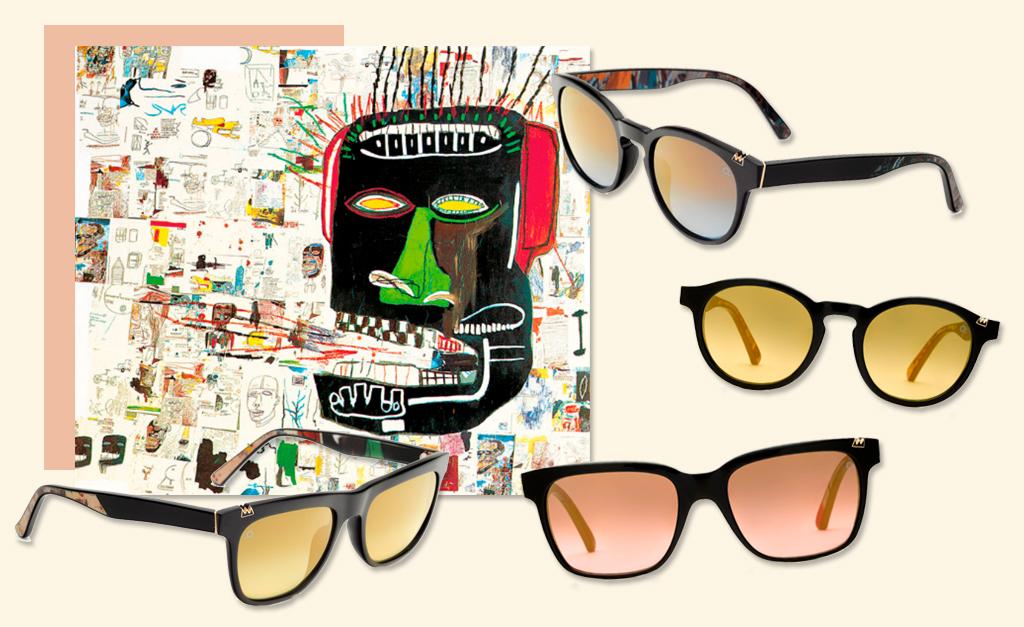 03cf1d15db948 Linha de óculos inspirados em obras de Jean-Michel Basquiat da Etnia  Barcelona    Créditos  Divulgação