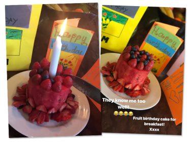 Victoria Beckham comemora aniversário e ganha melancia no lugar do bolo. Oi?