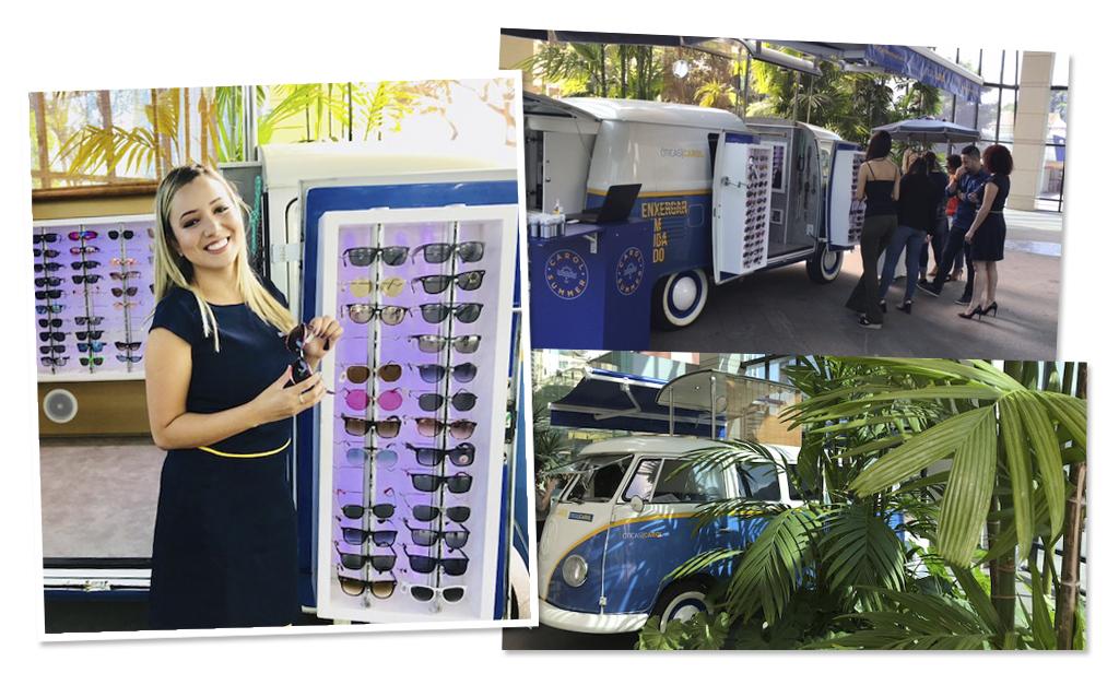 Kombi 1974 estilizada vira loja óculos itinerante da Óticas Carol e faz  sucesso pelo Brasil    Créditos  Divulgação f7dd8e85cd