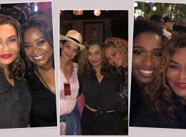 Mãe de Beyoncé ataca de tiete de celebs nos bastidores do show da filha no Coachella