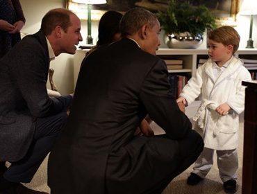 Michelle Obama quer festa do pijama para conhecer irmão do príncipe George
