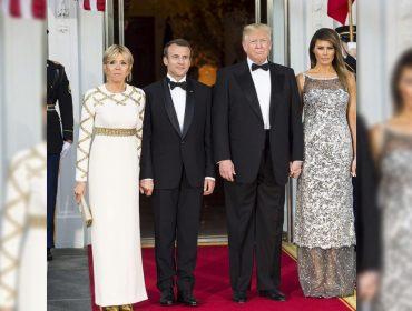 Batalha de estilos! Melania ou Brigitte Macron: quem estava mais bem vestida em jantar na Casa Branca?