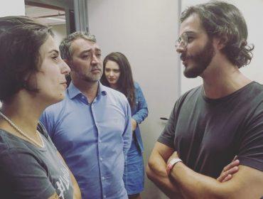 Túlio Gadêlha, namorado de Fátima Bernardes, vai ao ABC paulista para resistência pró-Lula