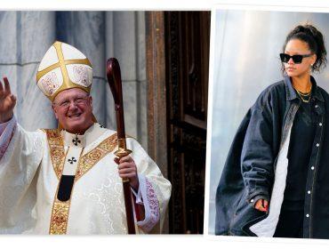 Rihanna e arcebispo de Nova York juntos no Baile do Met que rola nesta segunda… E isso é só o começo. Promete!