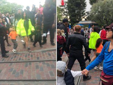 Kim Kardashian baixa na Disneylândia de jaqueta neon pelo bem de seus filhos. Entenda!
