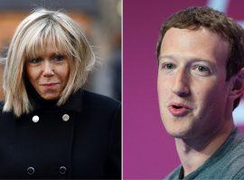 Zuckerberg tenta convencer primeira-dama da França a criar conta no Face e se dá mal