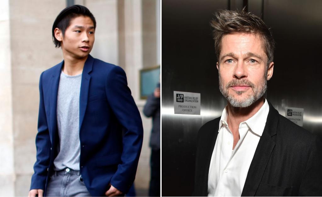 1a276e7b8 Maddox e Brad Pitt