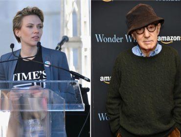 """Scarlett Johansson atrai olhares em NY em """"date night"""" com Woody Allen. Vem saber!"""