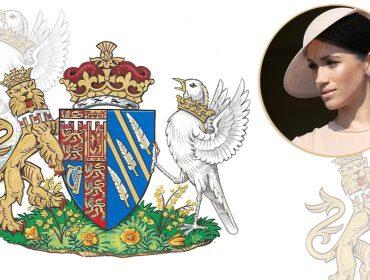 Meghan Markle acaba de ganhar um brasão da família real britânica para chamar de seu…